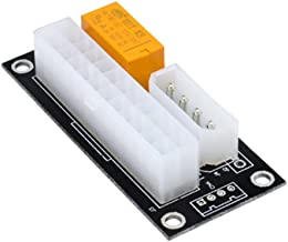 Dual PSU Power Supply Adapter,[Upgraded] Add2PSU ATX 24Pin to Molex 4-Pin Multiple Power Supply Sync Starter Extender Card For BTC Miner Machine-BLACK
