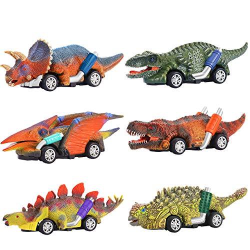 Dreamingbox Giocattoli Bambino 2-6 Anni, Dinosauro Giocattolo Giochi Bambino 2 3 4 5 6 Anni Regali Bambino 2-8 Anni Macchinine Giocattolo per Bambini Regali di Compleanno Bambini 2-8 Anni