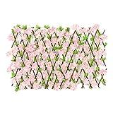 Recinzione per giardino fiorito con siepi artificiali, paravento per recinzione espandibil...