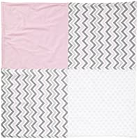 New Arrivals Peace, Love & Pink Crib Blanket-Pink & Gray by New Arrivals Inc