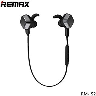 Remax Sporty Wireless Headphones, Bluetooth V4.1 Long Lasting Stereo Headsets with Magnetic Connection, Sweatproof Sports Earbuds with Noise Cancelling Built-in Mic (Gray)