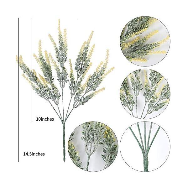 Floweroyal Ramo de Flores de Lavanda Artificial 8 Piezas de Plantas Falsas Ramo de Novia para la decoración de la Boda…