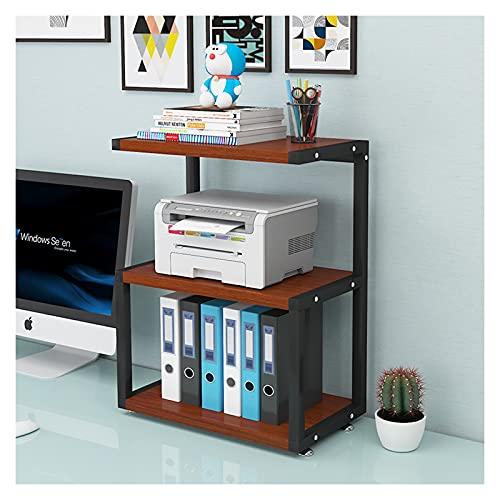 Soporte de Impresora Printer Stand Printer Stand con 3 Niveles de Almacenamiento Estantes de estantería de estantería Organización y Almacenamiento para Libros de Papel Grapador y Archivo Organizador