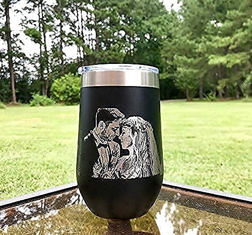 Custom photo engraved Stainless ◇限定Special Price Steel 1 Wine Tumbler with オープニング 大放出セール Lid