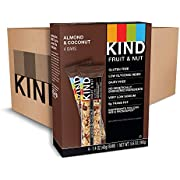 KIND Bars, Almond & Coconut, Gluten Free, Low Sugar, 1.4oz, 48 Count