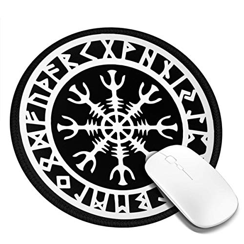 Odin Thor Viking Norse Helm of awe Rune Protection Mousepad Non-Slip Rubber Gaming Mouse Pad Mouse Pads for Computers Laptop 8.0x8.0 in