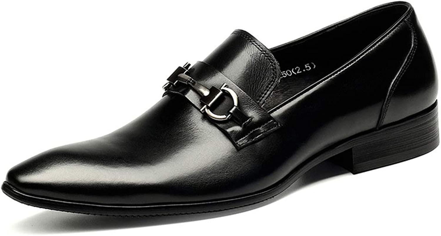 Mens Uniform Dress shoes Leather Formal shoes Oxford Wedding Business Casual Moccasins Black Brown 5 6 7 8 9 10