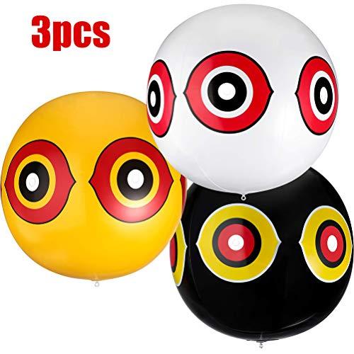Rapoyo Vogelabwehr als Ballon, mit Augen zur Vogelabwehr, Vogelscheuche, Vogelschreck, Ballons mit Augen zur Vogelabwehr, Taubenabwehr