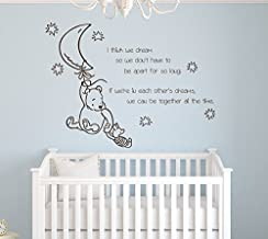 I Think We Dream so We Don't Have to Be Apart for so Long If Winnie the Pooh Wall Decal Quote Vinyl Nursery Room Wall Decor