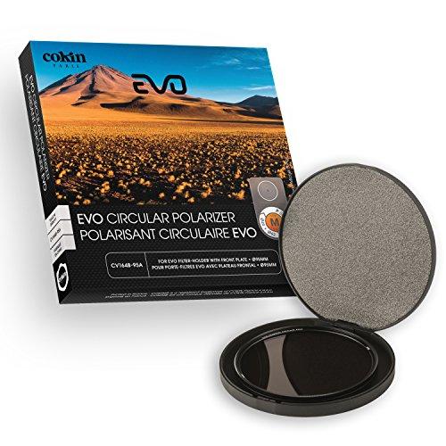 Cokin cv164–95A Filter Polfilter c-pl Evo 95mm für Filterhalter Evo Größe M/Optische mit Gewinde von 95mm Schwarz