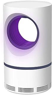 WUZMING-Lámpara del Mosquito Interior Interfaz USB inhalada Onda de luz Trampa Ahorro de energía Caja de Almacenamiento de Mosquitos sin plástico ABS (Color : Blanco, Tamaño : 12x12x21.5cm)