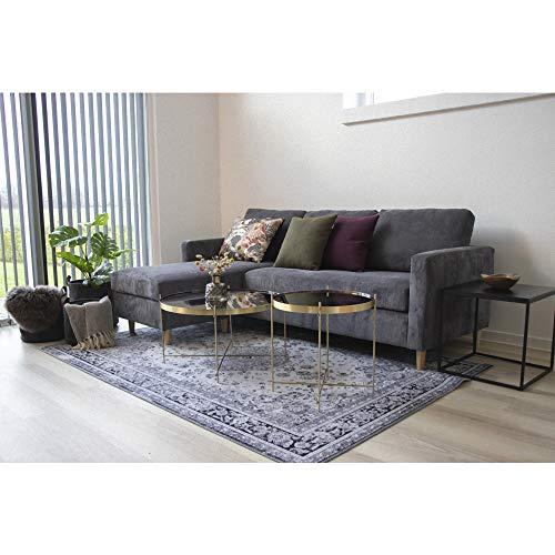 PKline Viggo Couchtisch schwarz Ecktisch Wohnzimmer Beistelltisch Tisch Wohnzimmertisch