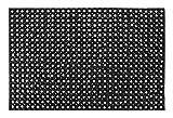 Andiamo Gummi-Ringmatte / Wabenmatte offene Ringe Schmutzfangmatte antirutsch Fußabtreter Gummimatte, Weichkautschuk, schwarz, 80 x 120 x 0,5 cm