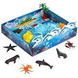 CoolSand 3D Sandbox Sea Creatures Edition Set Includes: 1 Pound Moldable Indoor Play Sand, Shaping Molds, Sea Figures and 3D Tray