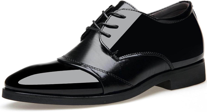 WLFHM Autumn shoes Men's 6 cm High Men's shoes Wedding Dress Business shoes