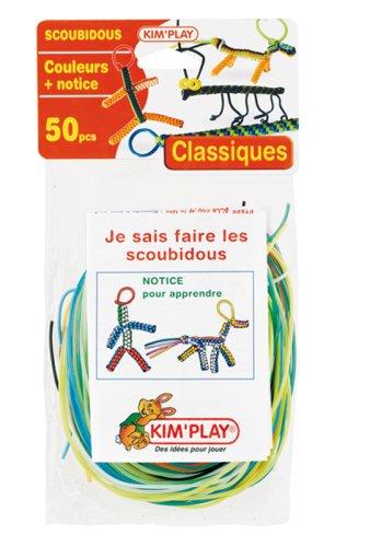 Cofalu Kim'Play - Scoubidous - 50 Brins classiques + Notice