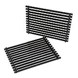 onlyfire Cooking Grill Grid Grates Porcelain-Enamel Rectangle (11.25'' x15'' x0.37'') for Weber 7521, Set of 2