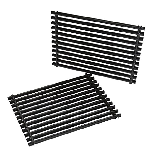 onlyfire Cooking Grill Grid Grates Porcelain-Enamel Rectangle (11.25'' x15'' x0.37'') for Weber...