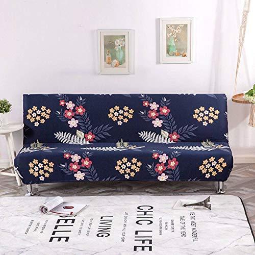 JHLD Stretch Ohne Armlehnen Sofabezug, Falten Schlafsofa Decken Antirutsch Weich Polyester Für Haustiere Kinder Kinder Hund Katze-AR-M 155-185CM(61-72in)