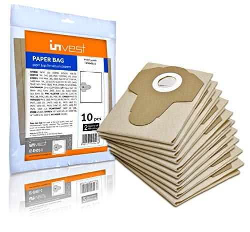 10 Staubsaugerbeutel geeignet für Parkside PNTS 1300 B2 C3 D3 1400 B2 C1 D1 E2 F2 G3