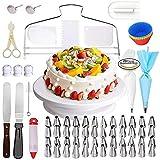 94 piezas de decoración para tartas que decoran conjuntamente Cupcake Decorating Set Herramientas Accesorios para la cocción para principiantes y Cake Lover