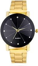 Wristwatch Daoroka Unisex Roman Number Stainless Steel Quartz Sports Dial Watch Clock Gifts