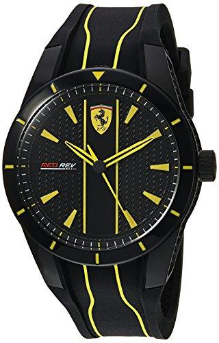 Ferrari Red Rev 0830482 - Reloj Casual de Cuarzo para Hombre