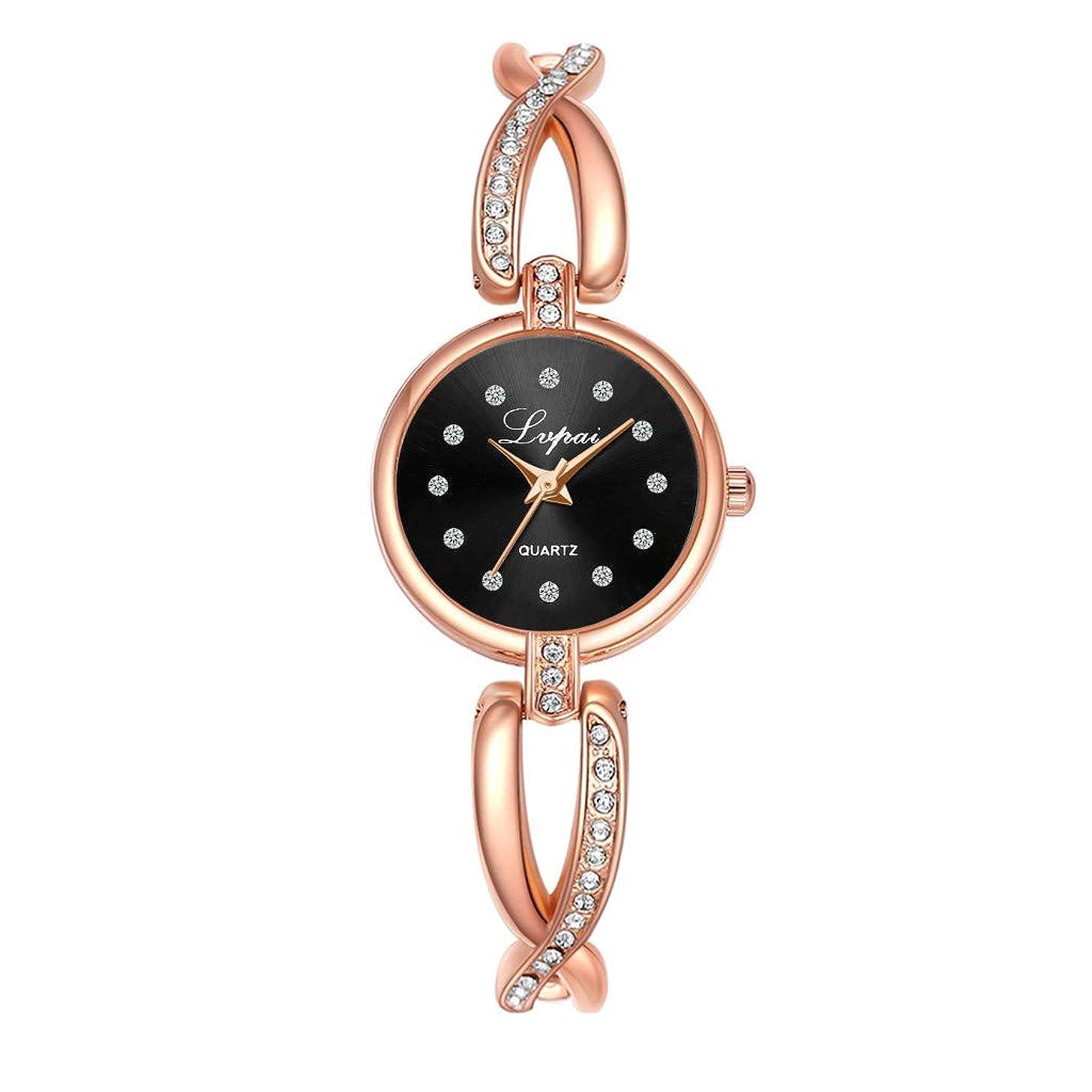 LUCAMORE Womens Fashion Analog Quartz Bangle Cuff Bracelet Wrist Watch Elegant Crystal Stainless Steel Wire Band