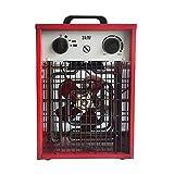 LZQ Calefactor eléctrico de 3 kW, con regulación de temperatura de hasta 3000 W, con termostato