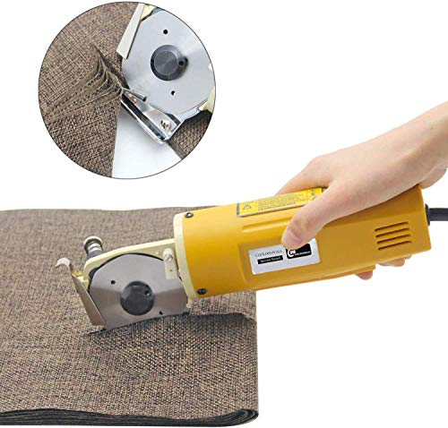 Best Bargain Electric Fabric Cutter with 25Mm Maximum Cutting Thickness 2400Rpm Blade Rotating Speed...