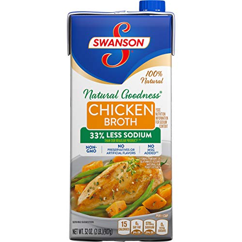 Swanson Natural Goodness Chicken Broth, 32 oz. Carton