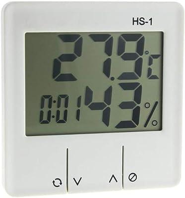 MKOJU 室内LCD電子温度湿度計のデジタル温度計湿度計の気象ステーション目覚まし時計