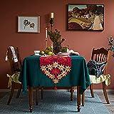 Tayis Camino de Mesa de 40 x 180 cm, Lavable, decoración de Mesa de Comedor, Flores Bordadas Vintage para Bodas, Fiestas, Banquete y Decoración del Hogar
