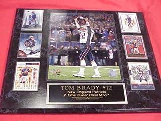 Patriots Tom Brady 6 Card Collector Plaque w/8x10 Photo