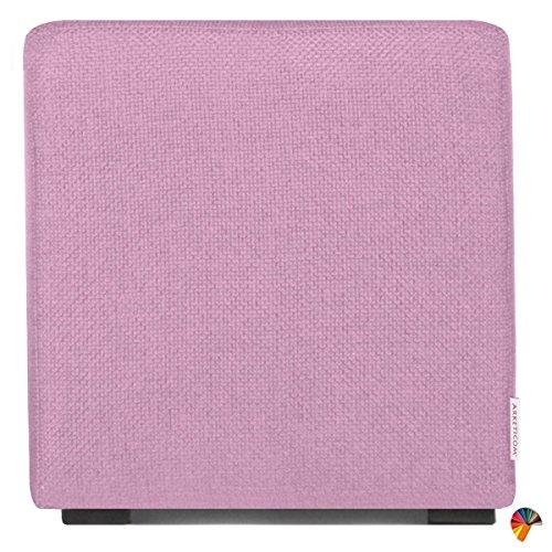 Arketicom - Pouf Cube - Repose Pieds en polyuréthane Haute densité - Plusieurs Couleurs et Dimensions - Personnalisable 45x45x45 Lilla Glicine