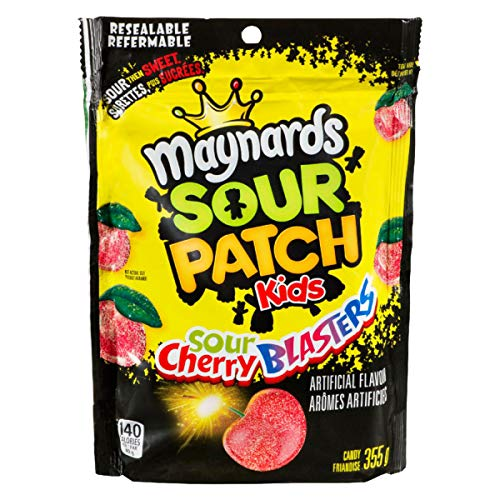 Maynards Sour Cherry Blasters Candy, 355 Gram/12.52 ounces {Imported from Canada}