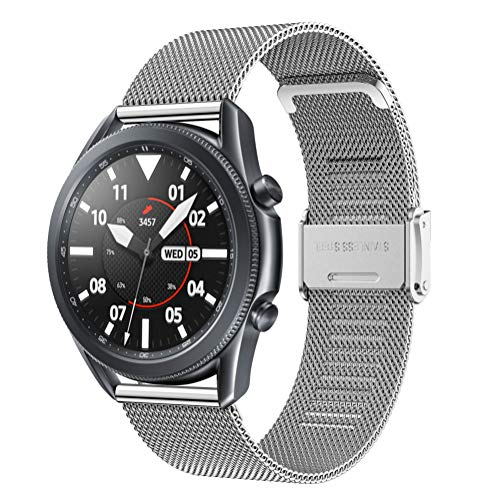 Hatolove 22mm Huawei Watch GT2 Pro 46mm Correa, Reloj de Acero Inoxidable Correa Malla Reloj Pulsera para Watch GT 46mm/Watch GT Active/Watch 2 Pro/Galaxy Watch 3 45mm/Galaxy Watch 46mm/Gear S3