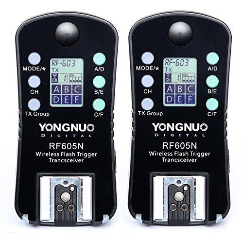 YONGNUO Wireless Flash Trigger & Shutter Release RF-605N RF605N for Nikon DSLR D850 D810 A D780 D750 D6 D5 D7500 D7200 D5600 D5300 D5100 D3500 D3400
