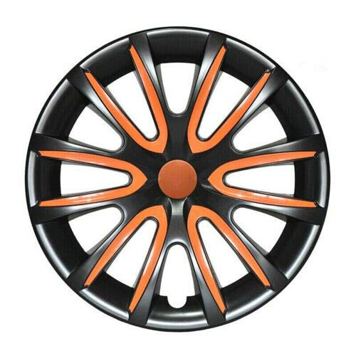 Wheel Rim Cover Hubcaps 16' Black with Orange 4. Pcs Set for Honda Civic