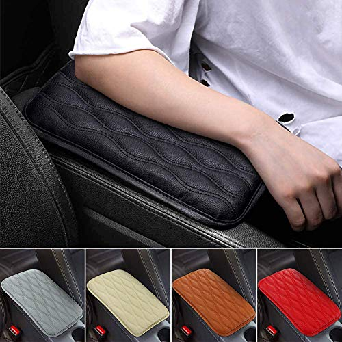 SUHU Auto Center Console Cover Pad Universal Fit for SUV/ Truck/ Car, Waterproof Car Armrest Seat Box Cover, Leather Auto Armrest Cover