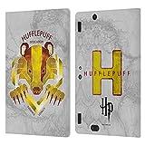 Head Case Designs Licenciado Oficialmente Harry Potter Hufflepuff Deathly Hallows IV Carcasa de Cuero Tipo Libro Compatible con Amazon Kindle Fire HDX 8.9