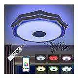 Vlovelife Lámpara De Techo Led Con Altavoz Bluetooth