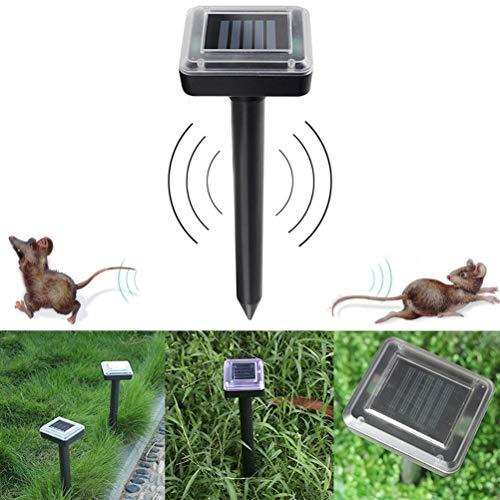 KTSM-Stop-T Bird expeller Solar Ultrasonic Pest Repeller Bird Repeller Mice Snake Rodent Repeller Electronic Ultrasonic Rat Mouse Repellent Scarecrow Suitable for farm (Color : Black)