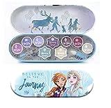 Disney Frozen Adventure Paleta Labios y Cara - Estuche de Lata con 11 Colores y Accesorios de Maquillaje para los Labios y el Rostro - Set de Maquillaje de Regalo para Niñas