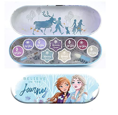 Disney Frozen Adventure Lip and Face Tin - Tin Canister with 11-Pops of...