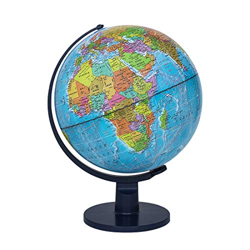 "Waypoint Geographic Light Up Globe for Kids - Scout 12"" Desk Classroom Decorative Illuminated Globe with Stand, More Than 4000 Names, Places - Current World Globe"