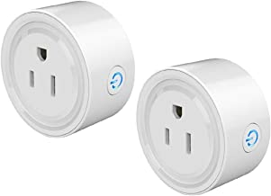 Mini Smart Socket Wifi Plug US Work with Alexa Echo Dot Voice Control No Hub Required Timing Function (2 Pack)