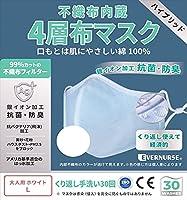 抗菌防臭 銀イオン 99%カットフィルター SMMS 撥水 不織布内蔵 布マスク アジャスター ノーズワイヤー くり返し使える 経済的 環境にやさしい