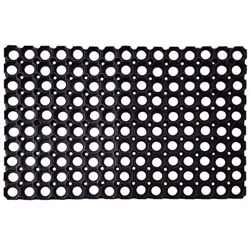 SafetyCare Interlocking Rubber Drainage Floor Mat - Anti-Fatigue - 24 x 16 inches - 12 Mats