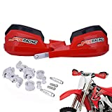 Handguards Dirt Bike Hand Guards - Universal For 7/8' And 1 1/8' Handlebar - For Dirt Bike For a Motocross Enduro Supermoto(Red)